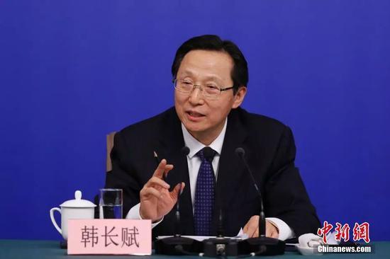 农业部部长韩长赋。 中新社记者 韩海丹 摄