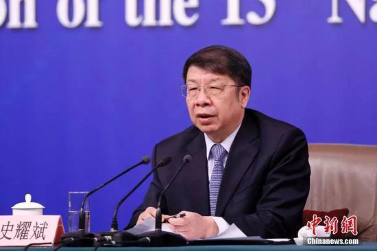 财政部副部长史耀斌。中新社记者 韩海丹 摄