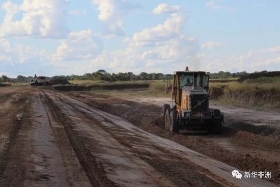 潘达马滕加农场排水项目施工现场。(项目方供图)