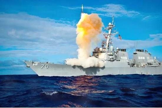 """△美国海军""""霍珀""""号导弹驱逐舰(资料图)"""