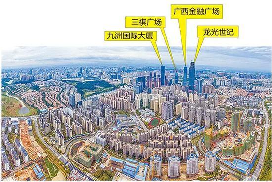 南宁东盟商务区一带高楼林立。本文图片 南国早报微信公众号