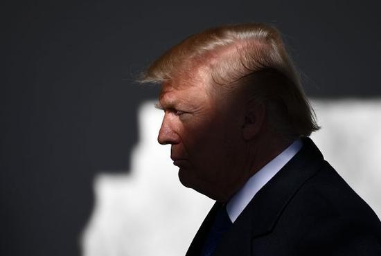 资料图片:美国总统特朗普。新华社记者殷博古摄