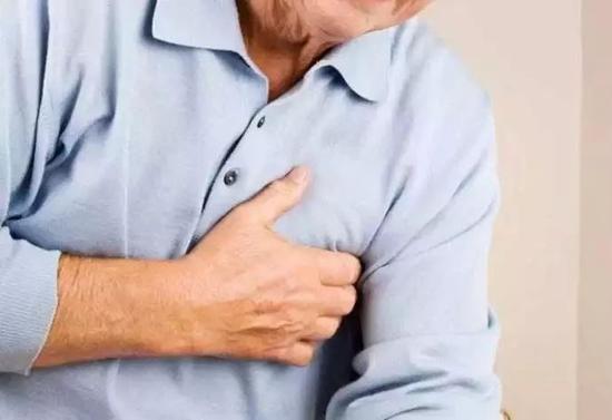 急性心梗的症状之一,胸背痛(网络图)