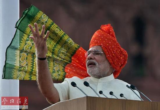 印度总理莫迪 (图源:参考消息网/法新社)