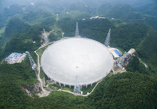 """""""中国天眼""""500米口径球面射电望远镜工程。东方IC 资料"""