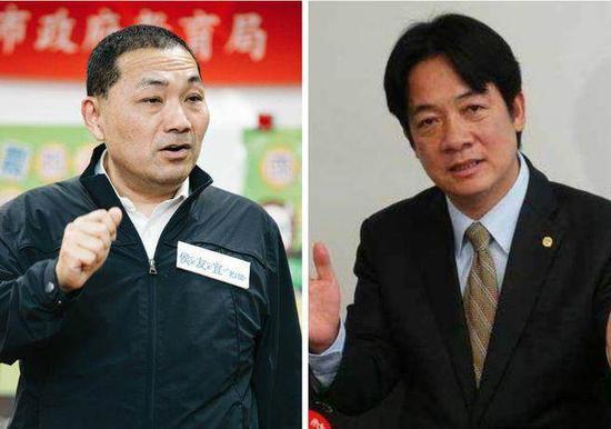 新北副市长侯友宜(左)、行政院长赖清德(右)。(图片来源:台湾《中国时报》)