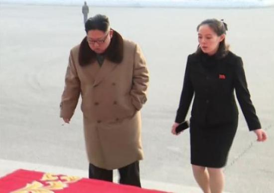 韩统一部:朝鲜称金正恩胞妹一行明日乘