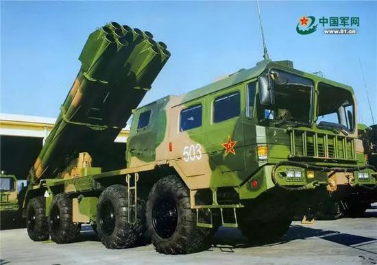 03式远程多管火箭炮。