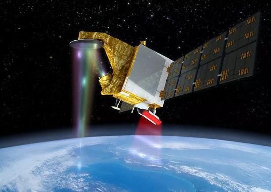 ▲中法联合开发的首颗卫星CFOSAT想象图(法国驻华使馆网站)