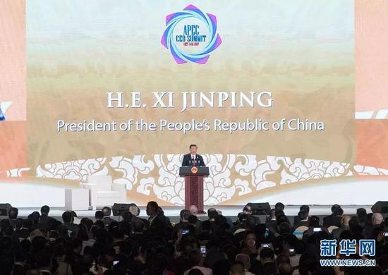 ▲资料图片:2017年11月10日,国家主席习近平出席亚太经合组织第二十五次领导人非正式会议并发表重要讲话。