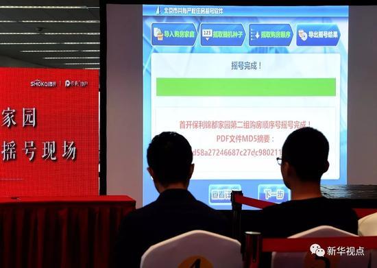 北京首个共有产权项目摇号 购房人产权份额比例占50% (新华社记者 罗晓光 摄)