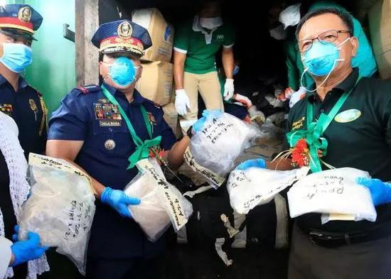 ▲菲律宾打击毒品犯罪