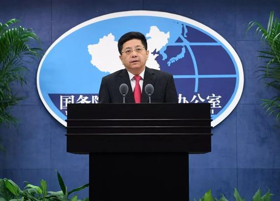▲资料图片:2017年11月29日,国台办发言人马晓光在例行新闻发布会上表示,一个中国原则是国际社会的普遍共识,坚持一个中国原则也是人心所向、大势所趋。