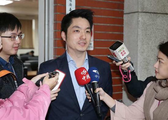"""蒋万安称""""我不会参加2018台北市长选举"""",将继续留在""""立法院""""。(图片来源:台湾《中国时报》)"""
