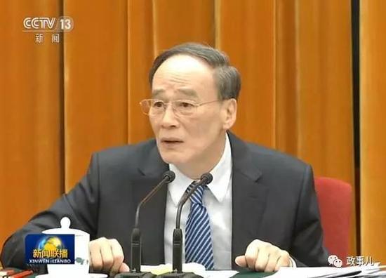 2013年2月,王岐山曾在北京当选十二届全国人大代表。