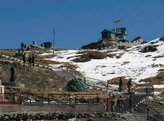 """印媒刊登的""""中国在洞朗驻军""""示意图。"""
