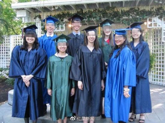 马楚楚高中毕业时曾获得美国优秀学生奖学金 图据网络
