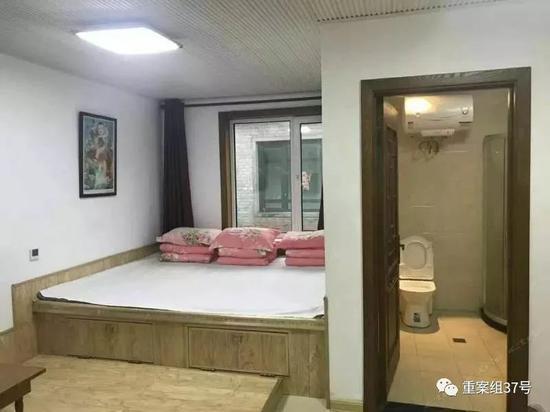 ▲游客预订的房间。