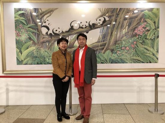 联合国NGO国际关爱组织副主席龚庭玉与刘中合影