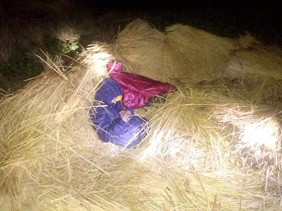 因作业未完成而感到压力大,两个小学生相约逃学迷路后夜宿稻草堆。 本文图均为 南华县公安局龙川派出所 供图