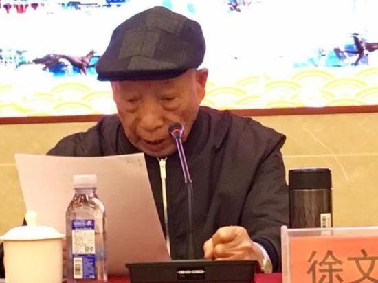 83岁高龄的横店集团创始人徐文荣在研讨会上宣布圆明新园将于2019年7月1日全面开业。 本文图片 浙江新闻客户端