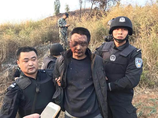 陈建湘被捕现场。资料图