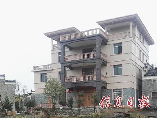 冷伟华及其父亲冷伙生所住房屋。中国江西网 图