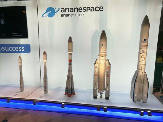 ▲欧洲阿丽亚娜航天公司各系列火箭(维基百科)
