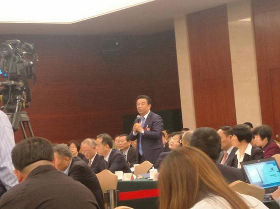 全国人大代表、山东如意控股集团董事局主席邱亚夫 央广网 图