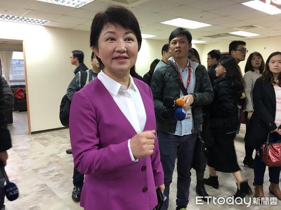 """国民党""""立委""""卢秀燕。(图片来源:台湾""""东森新闻云"""")"""