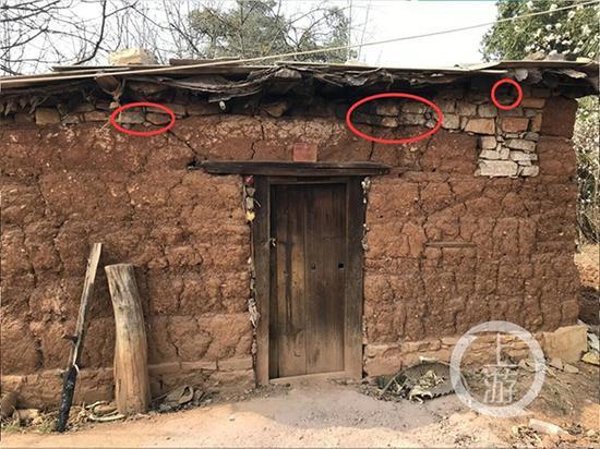 红圈内就是古砖。