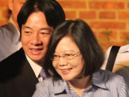 赖清德在民进党内的声望超蔡英文。(图片来源:台湾《中时电子报》)