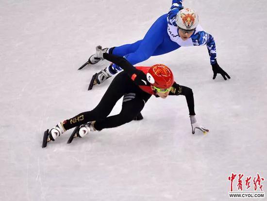 范可新在比赛中。 中国青年报·中青在线特派记者 慈鑫摄