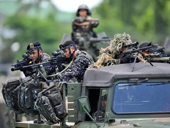 ▲菲律宾特种部队资料图(俄罗斯卫星网)