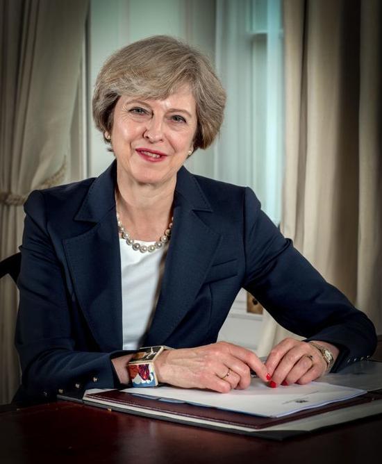 资料图片:英国首相特雷莎・梅。新华社发