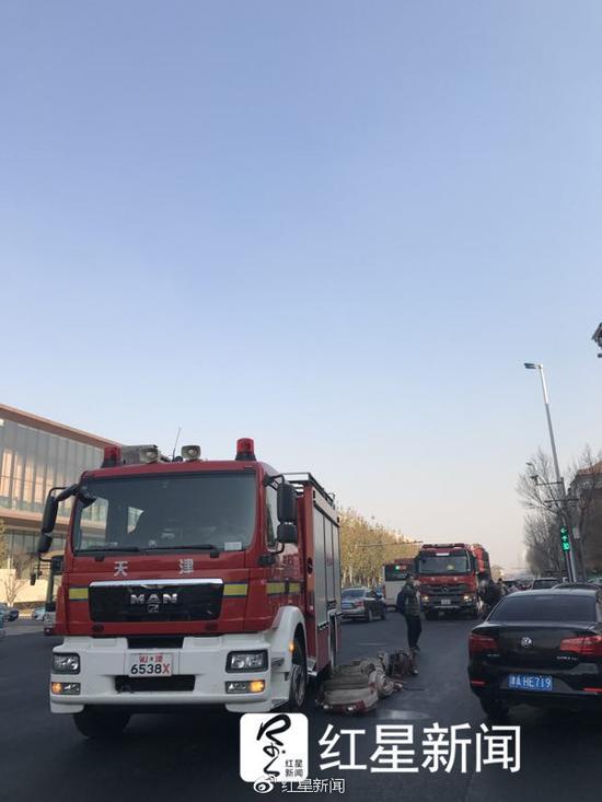 消防车在现场