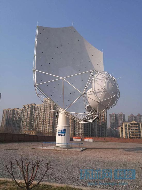 2月6日下午,由中国主导研制的SKA首台天线(SKA-P)在中国电子科技集团公司第五十四研究所(简称54所)启动。 环球网微信公众号 图