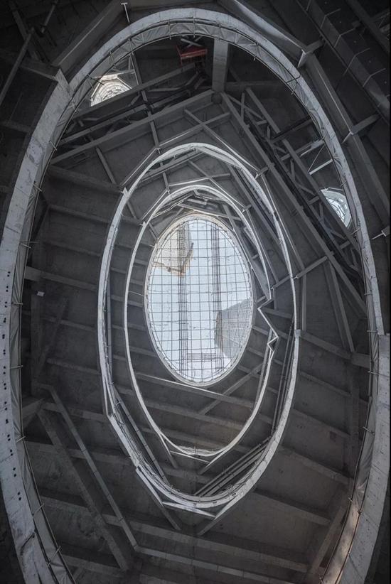 裙房内部形象 2017年12月建设期间实景