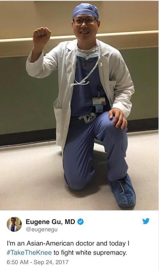 美华裔医生发单膝跪地照抗议白人至上主义遭停职cf寻找战龙第二季活动