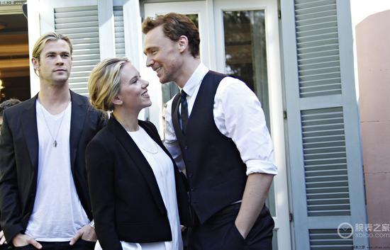 (从左到右)雷神、寡姐、洛基