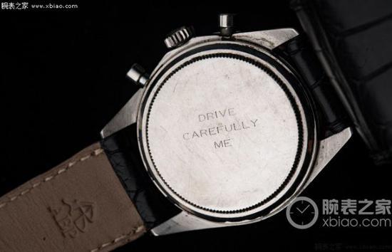 保罗 · 纽曼的劳力士迪通拿腕表表背镌刻有她妻子的温情寄语