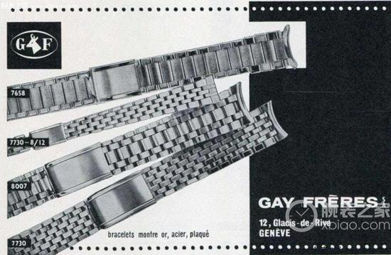 """""""GF""""公司,在1998年被勞力士集團收購,在此之前,專爲高端機械錶製作錶帶"""