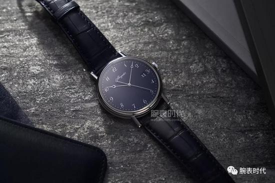 宝玑Classique经典系列5177蓝色大明火珐琅腕表