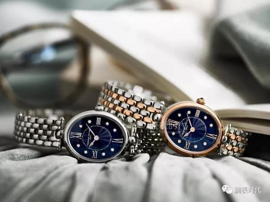 康斯登Art Déco系列蓝盘腕表