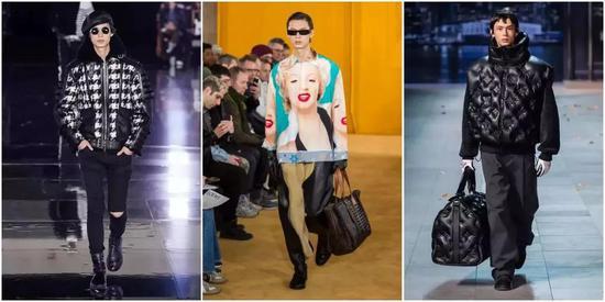 從左往右  Balmain、Loewe、Louis Vuitton 19秋冬秀場