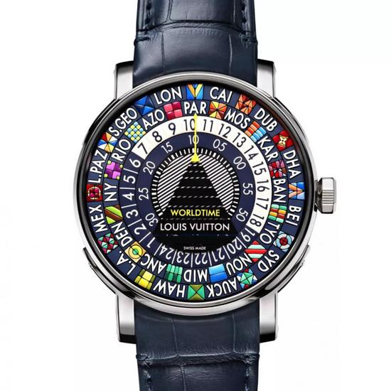 路易威登Escale世界时蓝色腕表