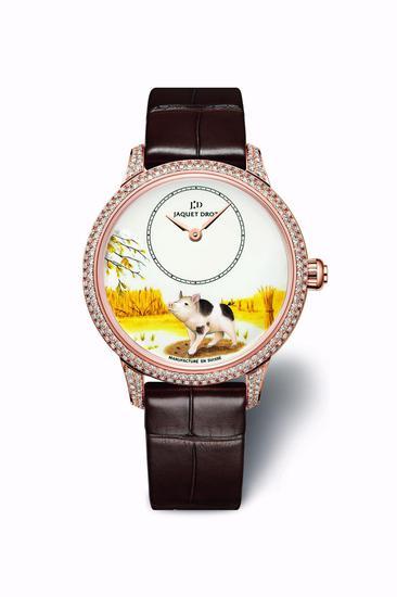 35毫米镶钻女款猪年腕表