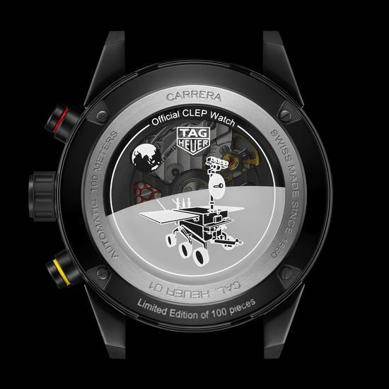 泰格豪雅卡莱拉系列 Heuer 01 CLEP特别款腕表表背