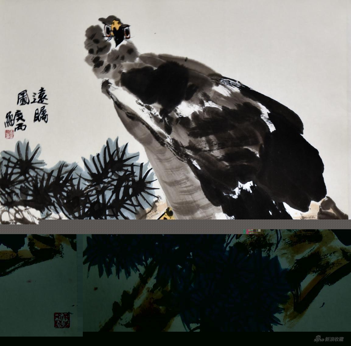 作品名称:《远瞩图》作者:詹庚西 尺寸:69cm×69cm