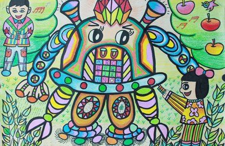 中蒙俄少年儿童科学幻想美术作品展在呼开展